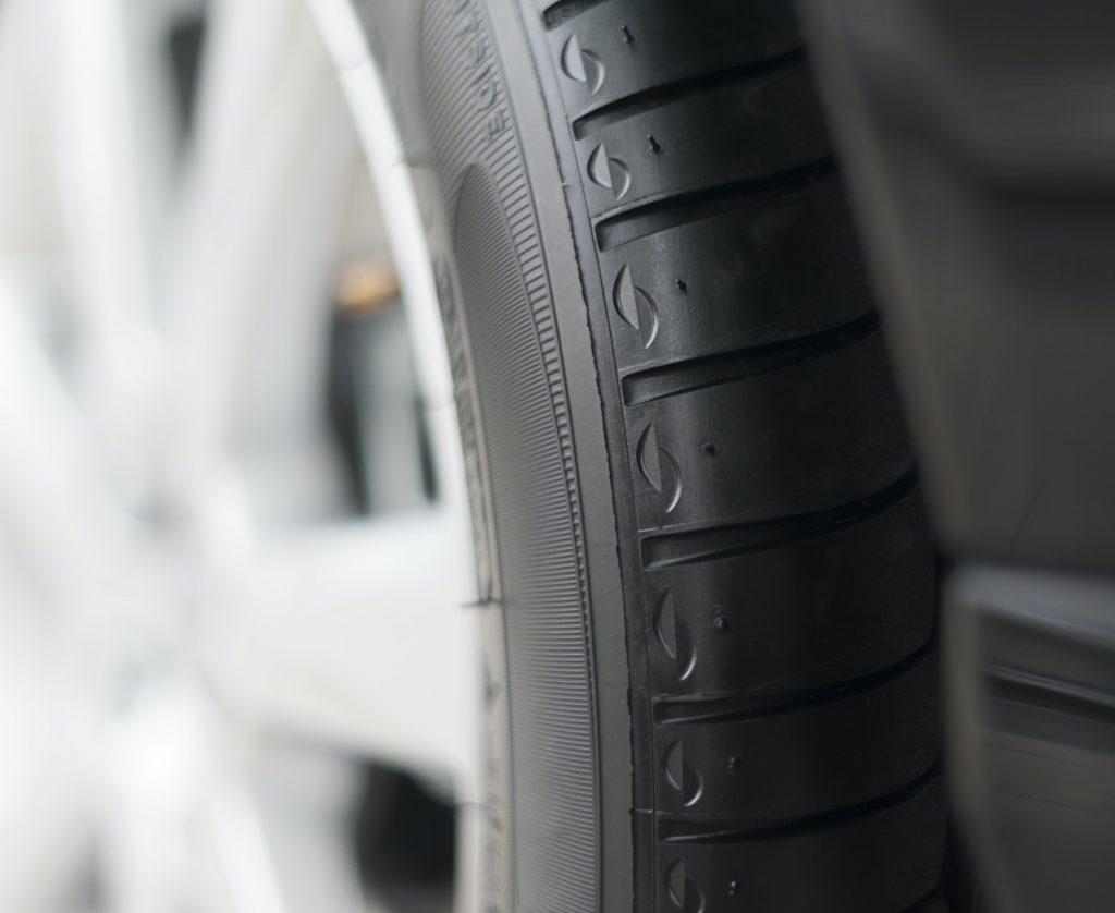 Detail of black tire. Shallow dof
